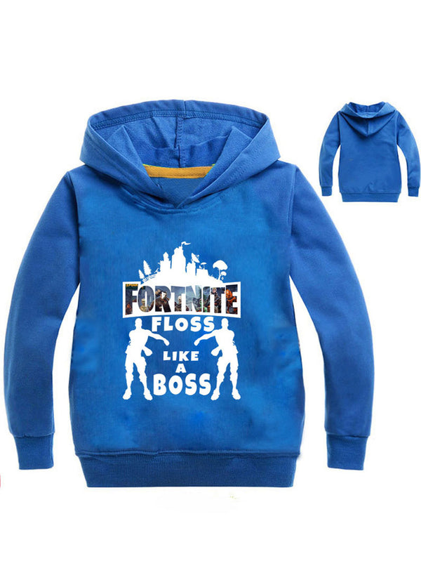 Fortnite Cotton Printed Pullover Hoodie For Kids