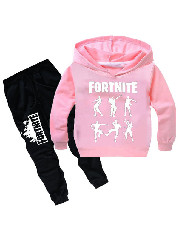 Fortnite Kids Graphic Hoodie Casual Two Piece Sets