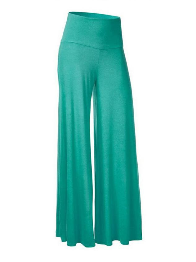 Casual High Waist Sports Plus Size Wide Leg Pants