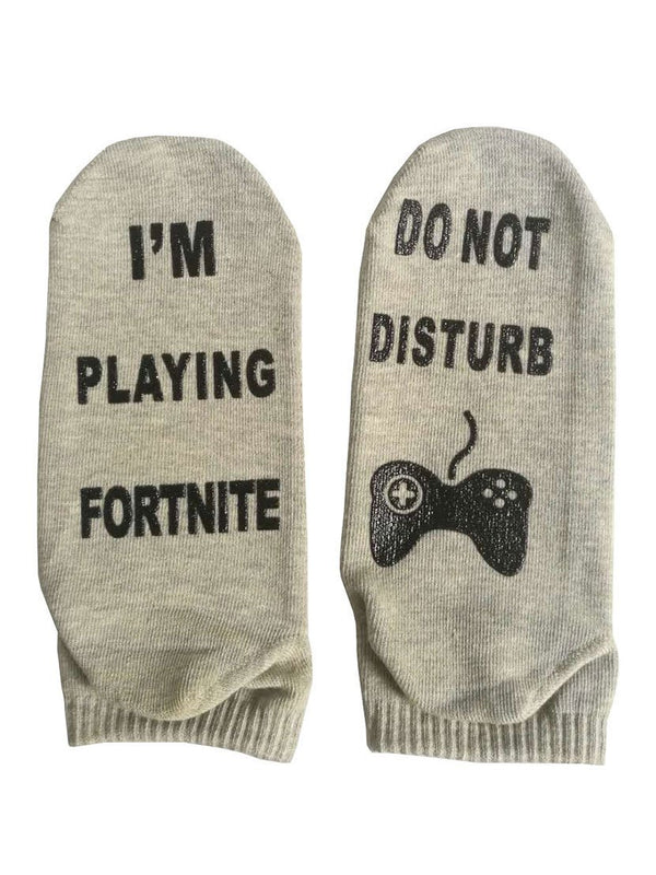 Fortnite Unisex Letter Cotton Socks