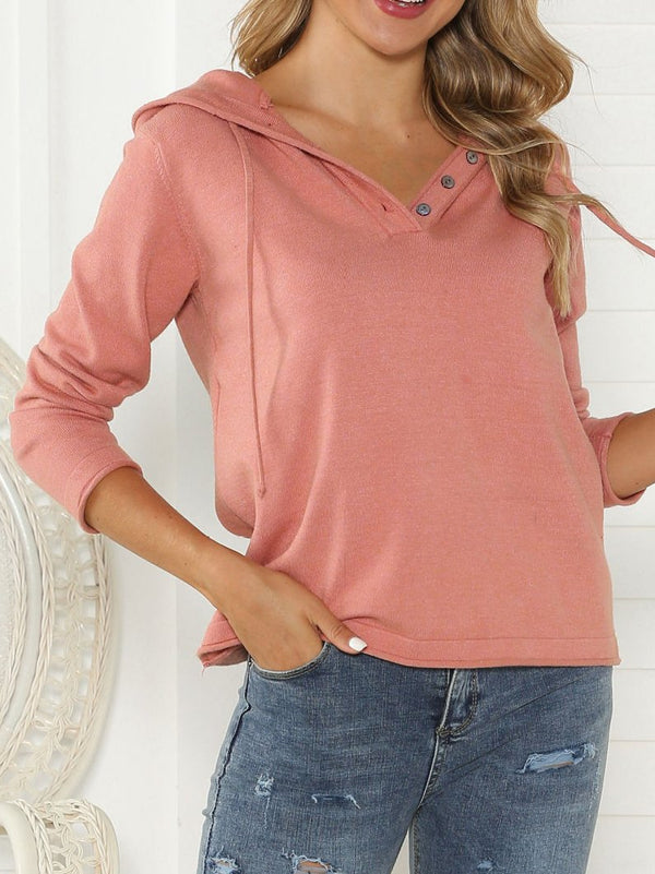 Red Cotton Sweet Sweatshirt