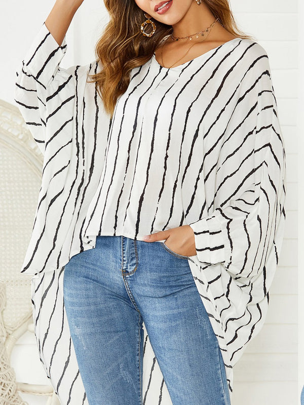 Stripe Cotton Casual Shirts & Tops