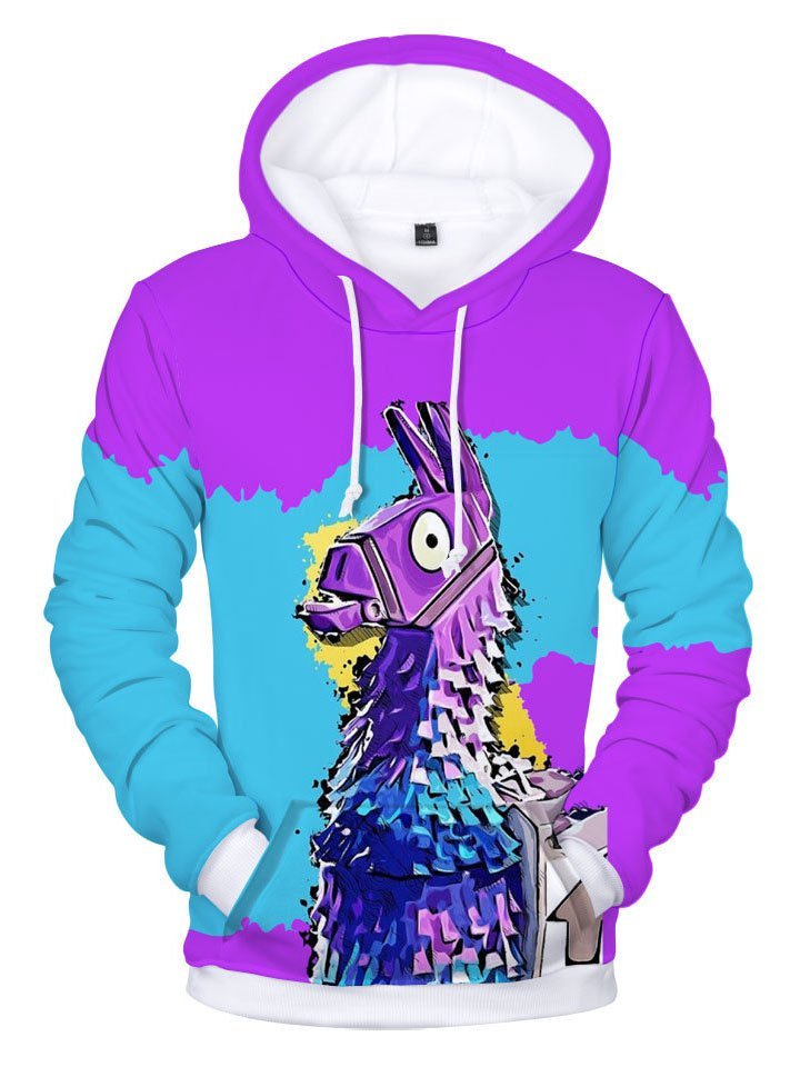 Fortnite Plus Size 3D Printed Pullover Hoodie