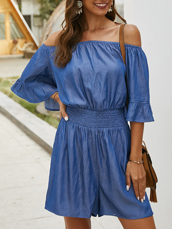Royal Blue Cotton Holiday One-Pieces