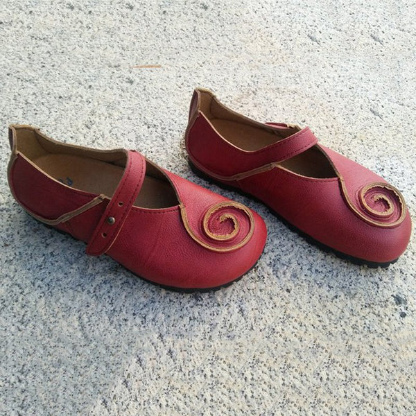 Women's Red Daily Summer Flats