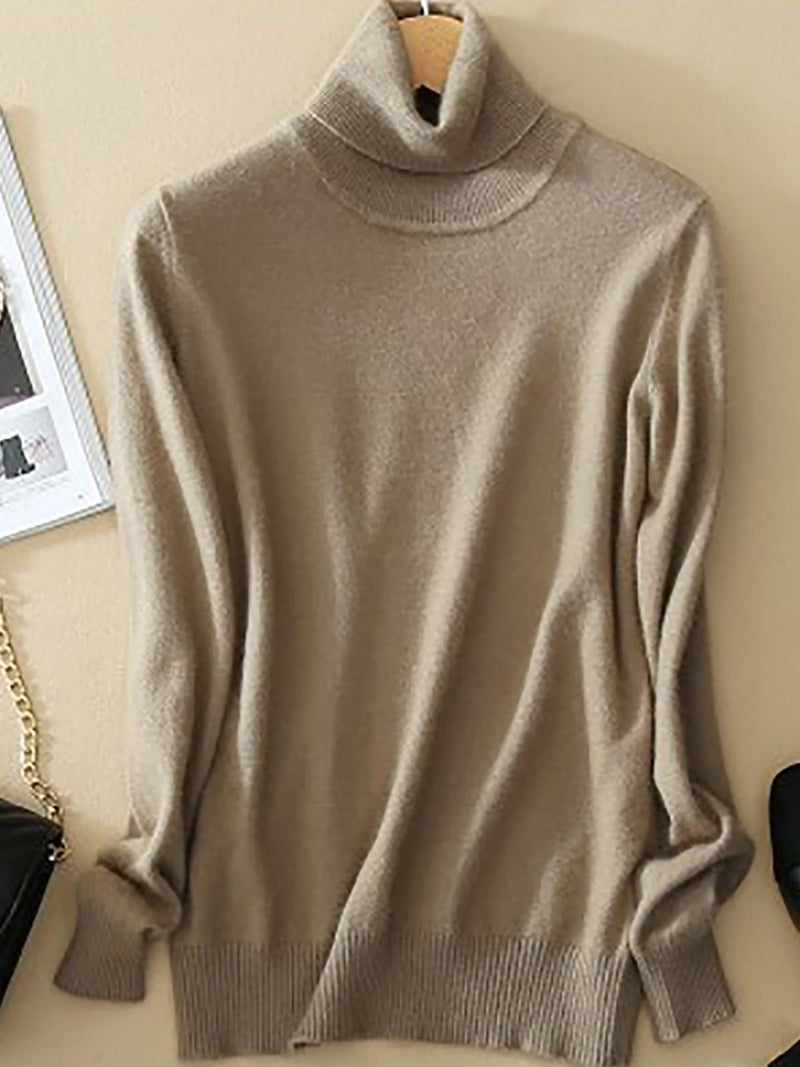 Long Sleeve Casual Turtleneck Sweater
