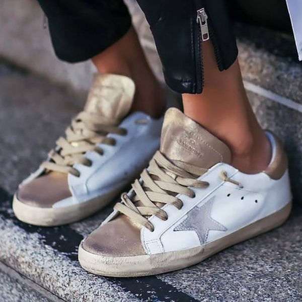 White Flat Heel Casual All Season Pu Sneakers
