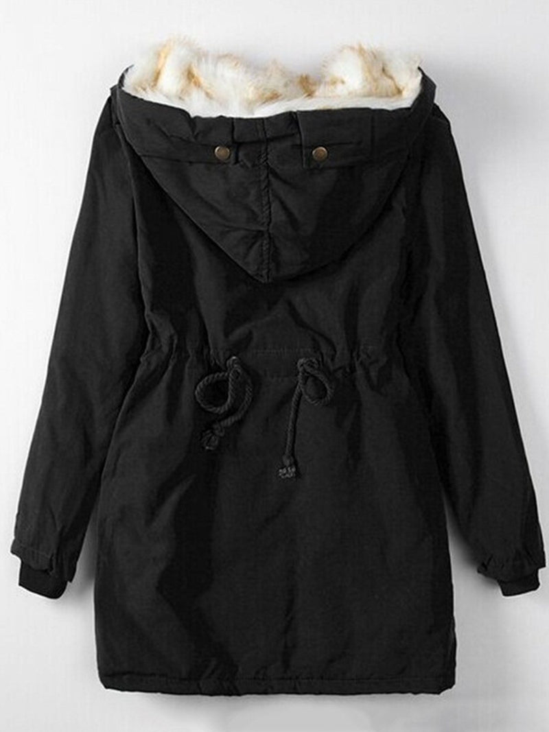 Casual Cotton Drawstring Winter Coat