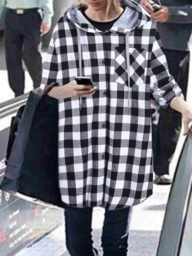 Cotton-Blend Long Sleeve Casual Coat
