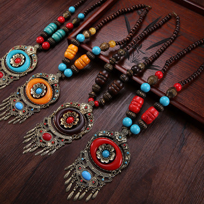 Vintage Boho Tribal  Alloy Holiday Necklaces