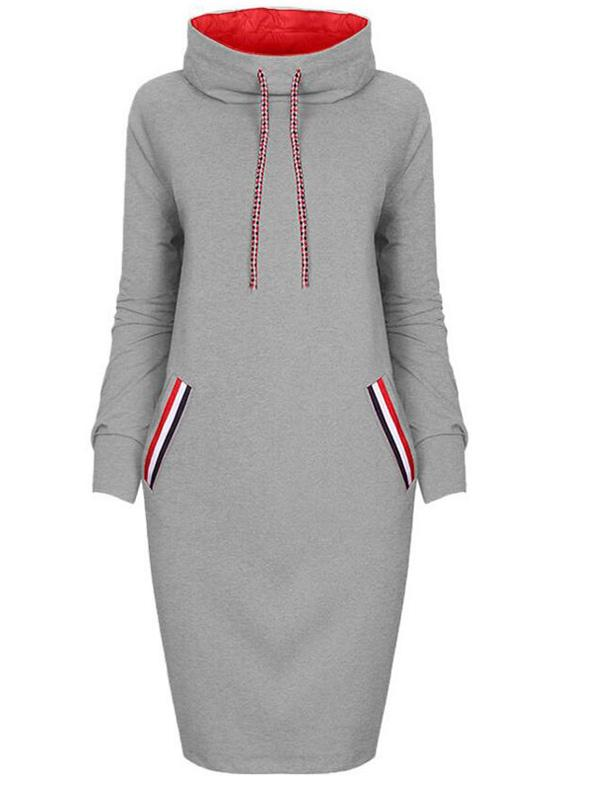 Casual Long Sleeve Hoodie Dress