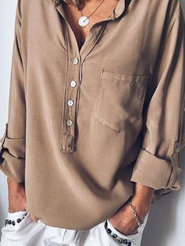 Women Spring\Summer Chiffon Long Sleeve Blouses