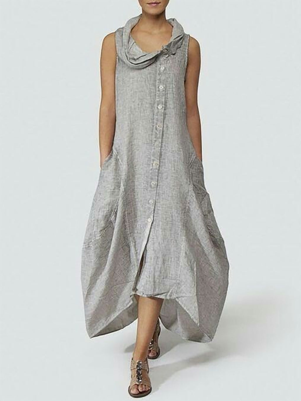 Dresses Summer Cocoon Daily Paneled Solid Dresses