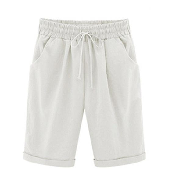Casual Pockets Linen Bottoms