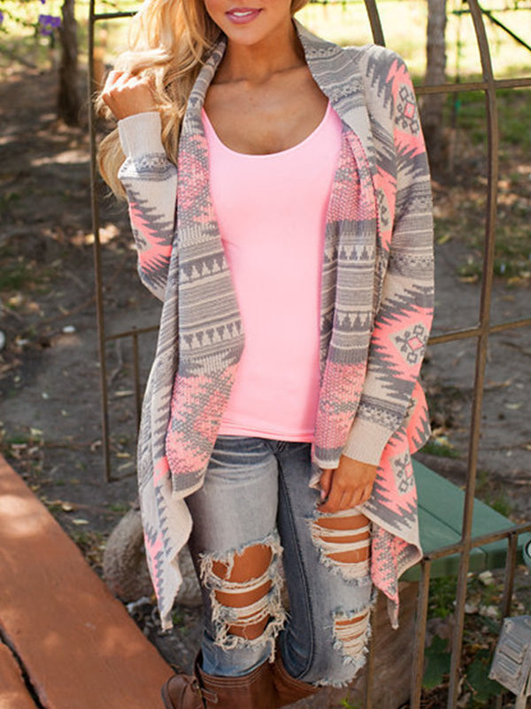 Knitted Casual Long Sleeve Cardigan