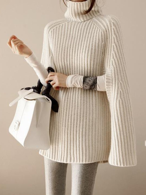 Casual Turtleneck Knitted Knitted Sweater