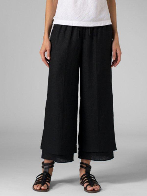 Casual Plus Size Polyester All Season Pants