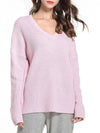 Casual V Neck Loose Sweater