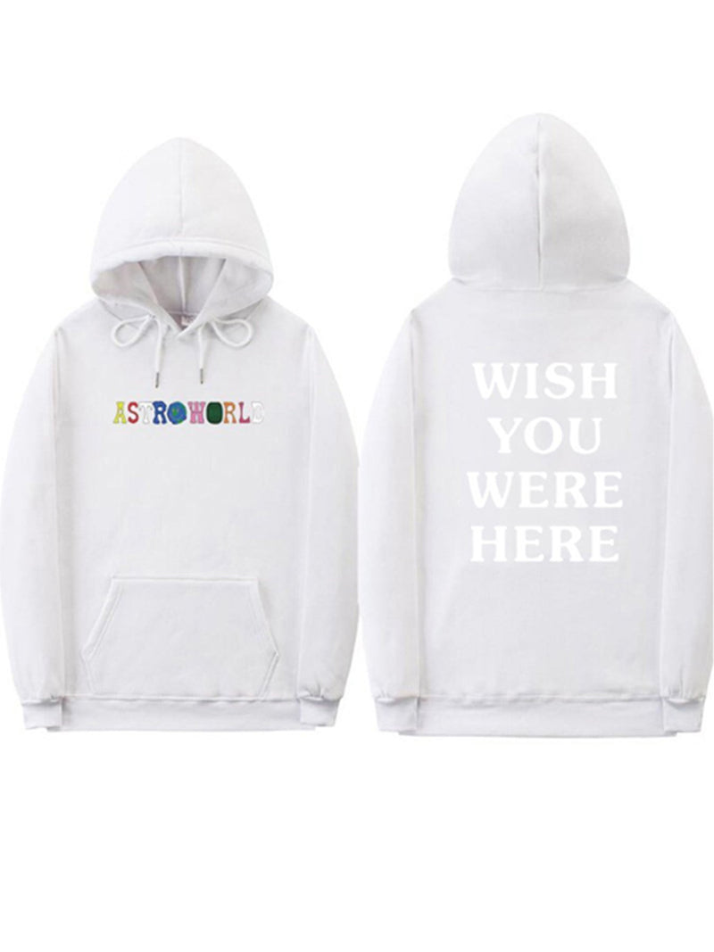 Astroworld Hoodie Cotton Solid Sweatshirts & Hoodies