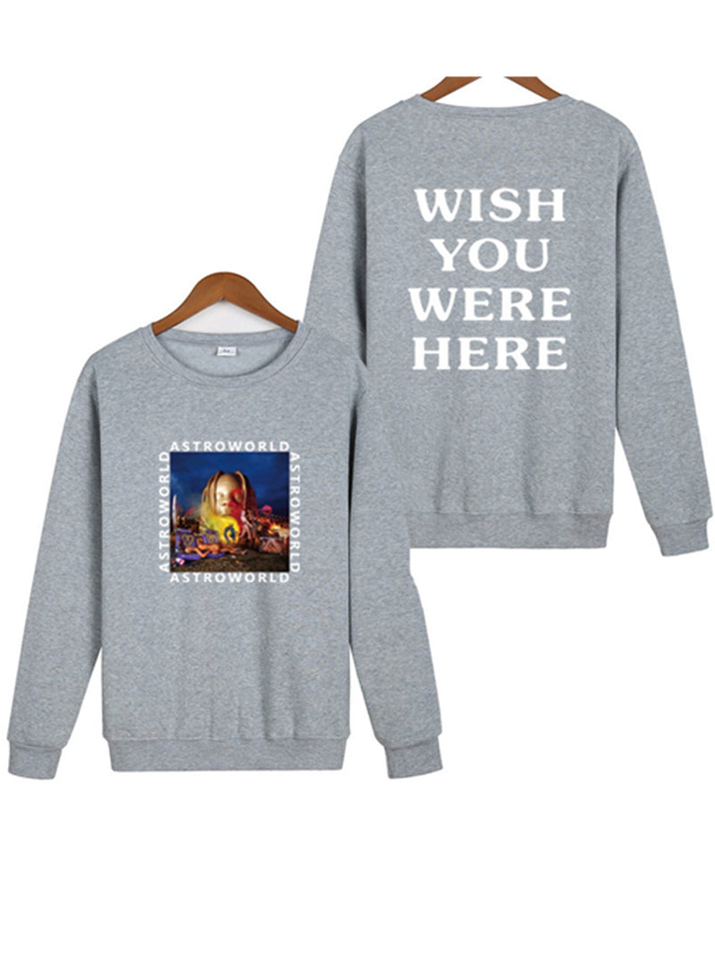Long Sleeve Letter Crew Neck Astroworld – Lorgeous