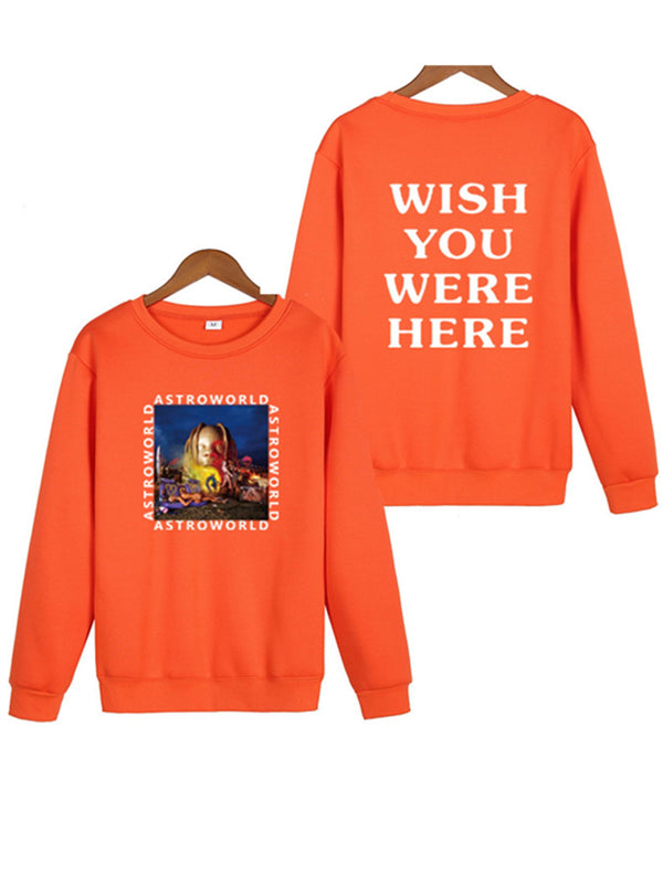 Astroworld Long Sleeve Letter Crew Neck Astroworld