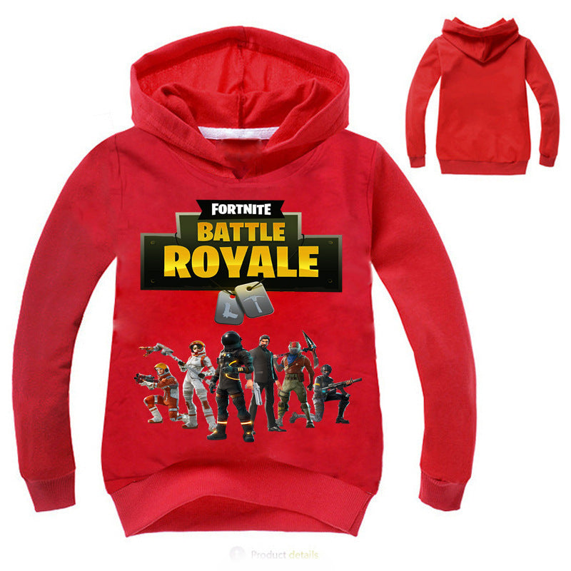 Fortnite Kid's Long Sleeve Cotton Graphic Hoodie