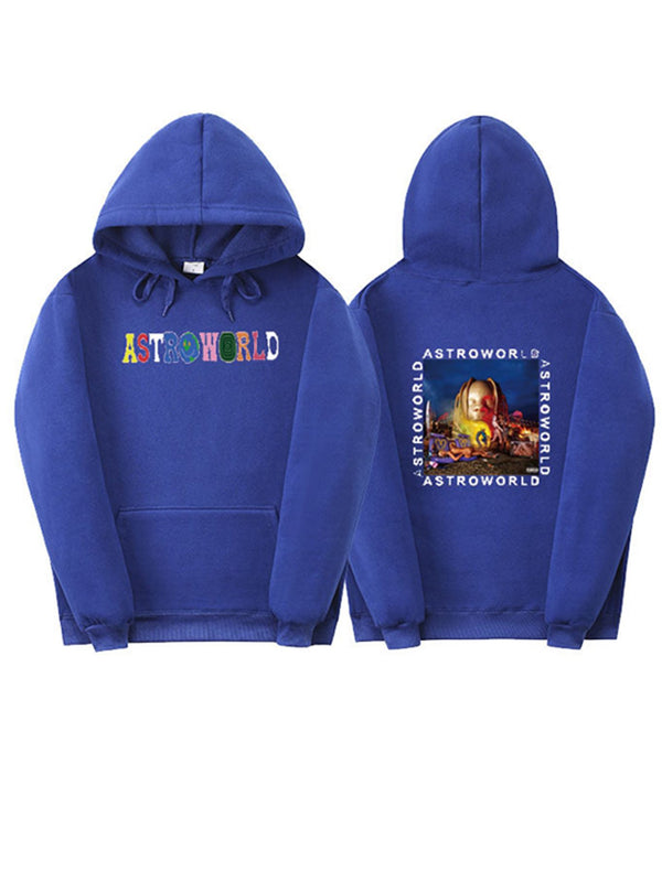 Travis Scott Astroworld Casual Graphic Long Sleeve Hoodies