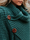 Long Sleeve Solid Cowl Neck Sweater