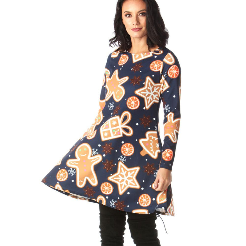 Cotton Sweet Long Sleeve Dress