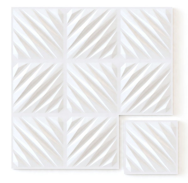 White Diagonal - Box per 12 Panels (32.9 ft²/3 m²)