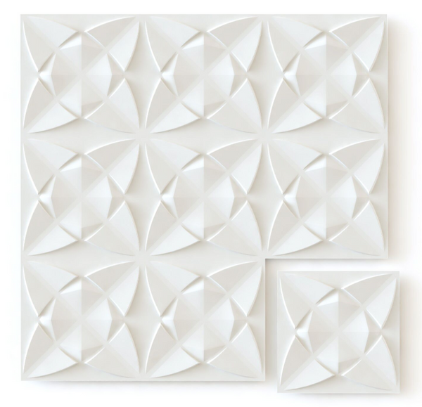 White Flower - Box per 12 Panels (32.9 ft²/3 m²)