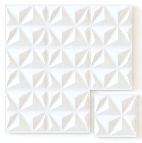 White Triangles - Box per 12 Panels (32.9 ft²/3 m²)