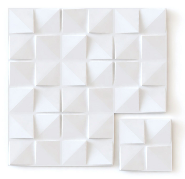 White Square - Box per 12 Panels (32.9 ft²/3 m²)