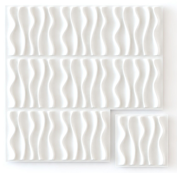 White Waves - Box per 12 Panels (32.9 ft²/3 m²)