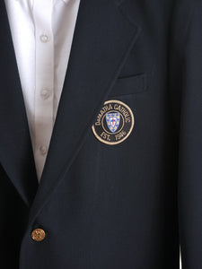 Navy School Blazer with Patch