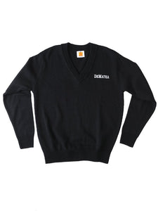 Navy Long Sleeve Sweater with Logo