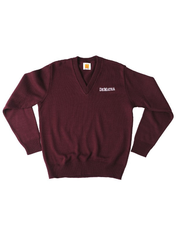 Maroon Long Sleeve Sweater with Logo