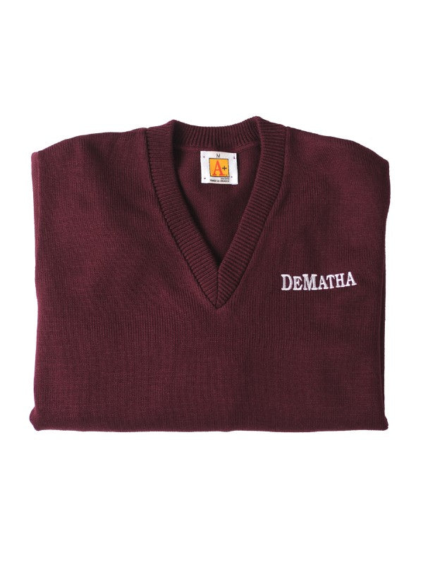 Maroon Sweater Vest with Logo