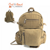 "Heavy Duty Cotton Canvas Bag Backpack BROWN 18"" Jumbo"