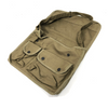 Canvas Shoulder Messenger Bag 2 Pocket Adjustable Strap Motorbike Camping Olive