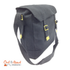 Canvas Messenger Shoulder Bag Large black