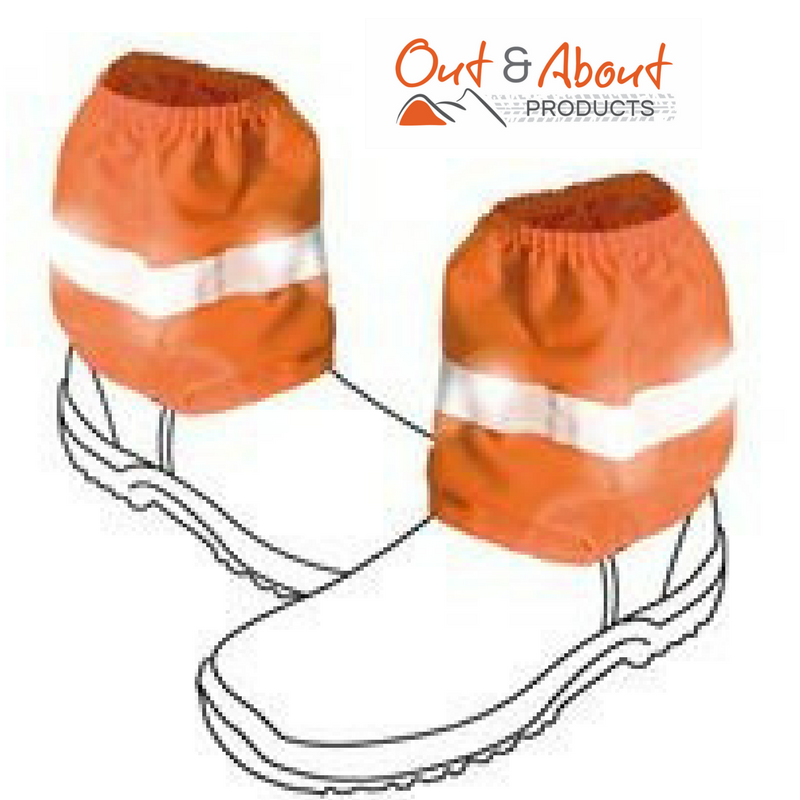 Over Boots Sock Protectors Sock Saver Visual Safety ORANGE Work Boot Covers 16cm