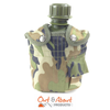Water Bottle Canteen Kidney Shape With Woodland Cover