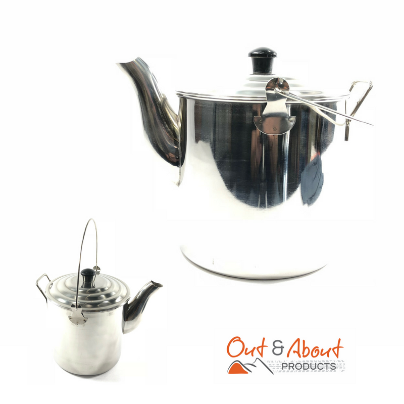 Billy Kettle Tea Pot Stainless Steel 6 Pint