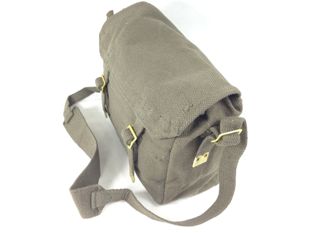 Canvas Messenger Shoulder Bag OLIVE