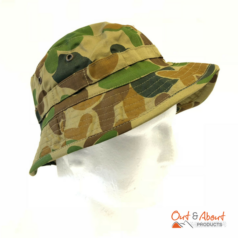 Auscam Giggle Bush Hat Army Style Camo Medium
