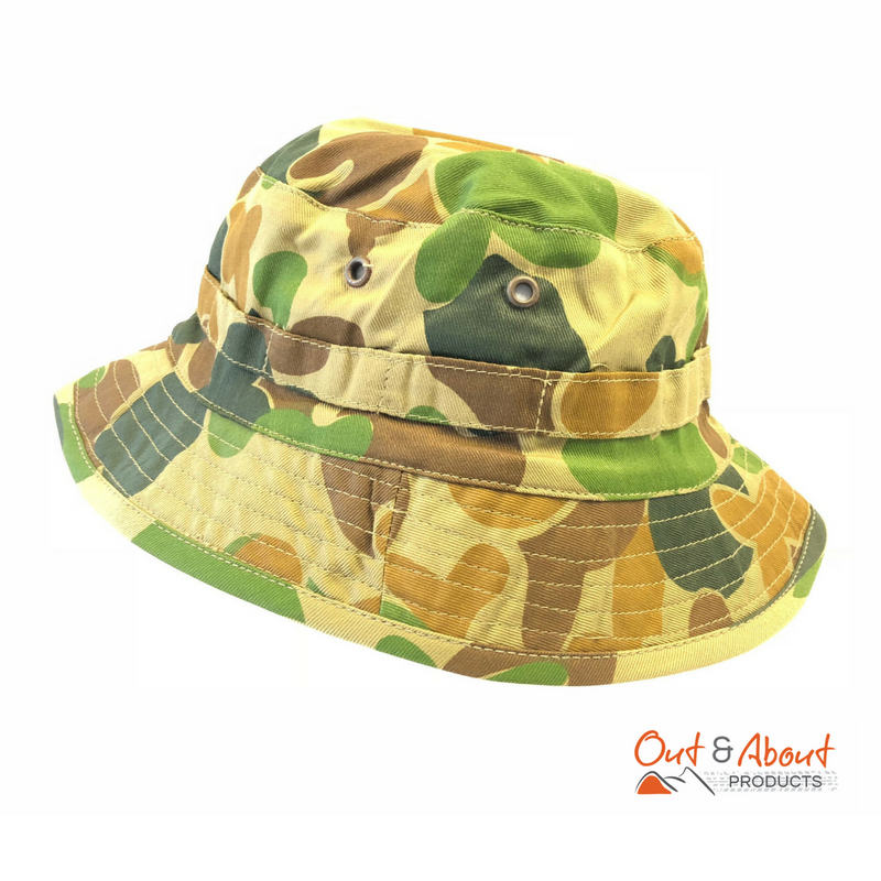 Auscam Giggle Bush Hat Army Style Camo Small