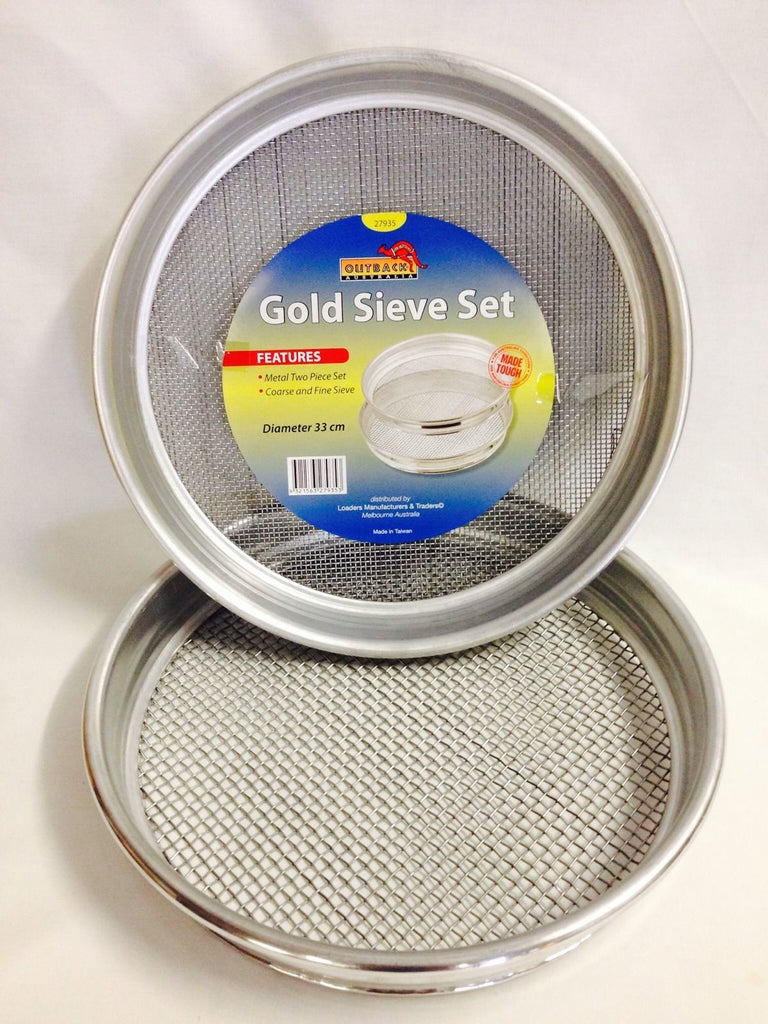 Prospecting Sieve Set Metal 2 Piece Panning Sieves for Gold and Gems
