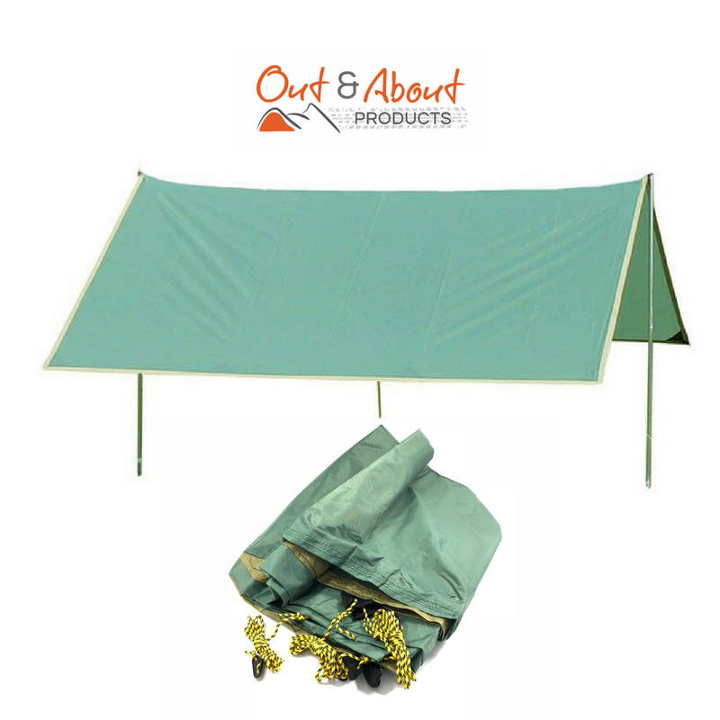 Hiker Fly Tarp Shade Shelter  M 270x240 Ropes Pegs