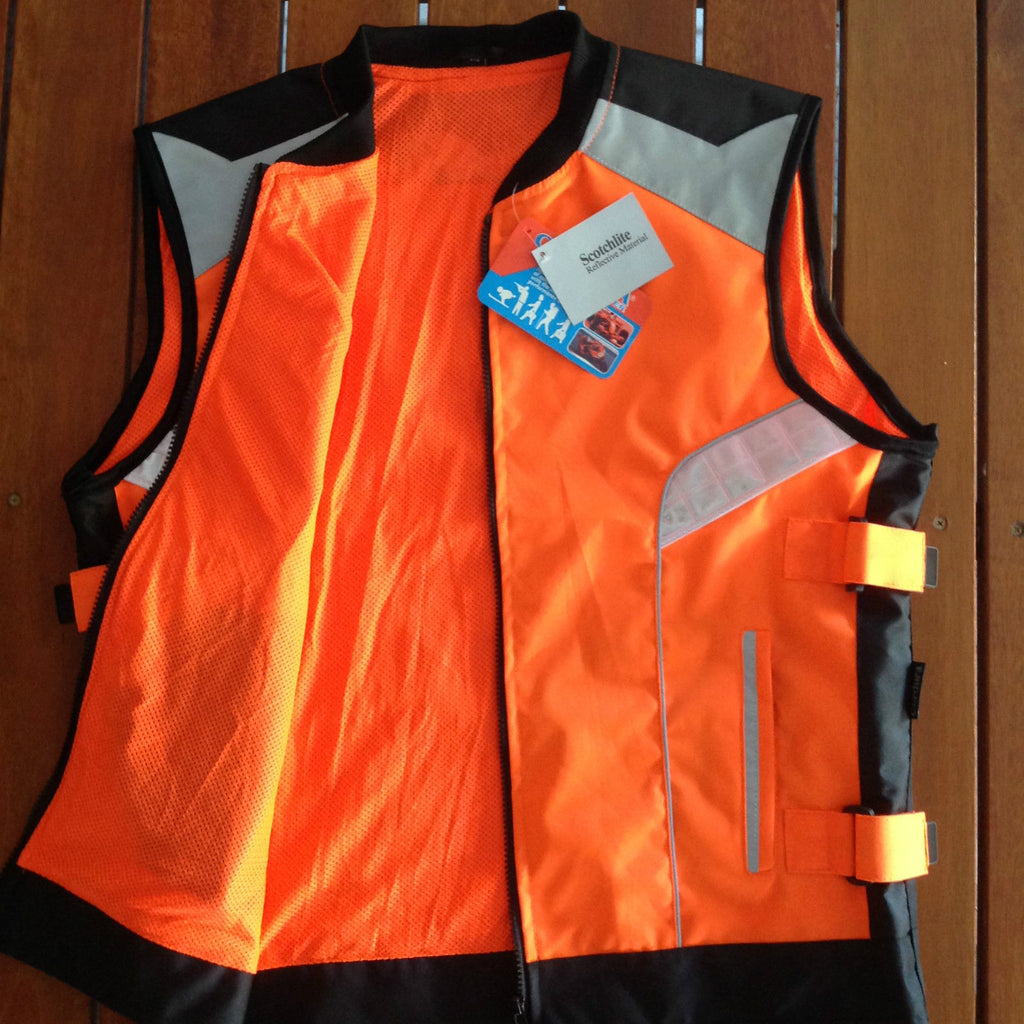 MENS Vis Reflective Motorcycle Safety Vest